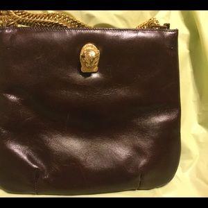 Ruth Saltz Bags - Ruth Saltz vintage 'Cougar' handbag. Brown & gold
